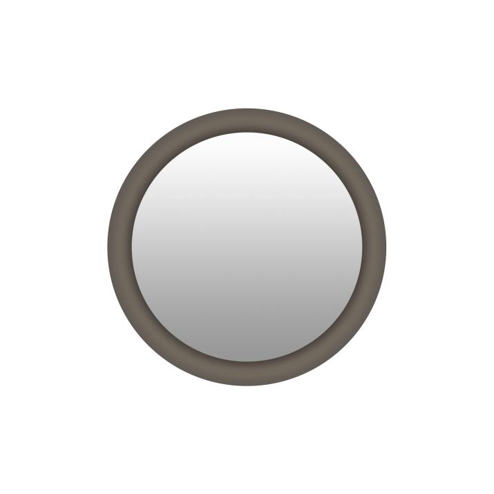 Miroir Rond - Litos Marron Tundra