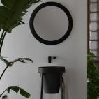 Miroir Rond - Litos Noir Anthracite