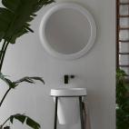 Miroir Rond - Litos Blanc Polaire