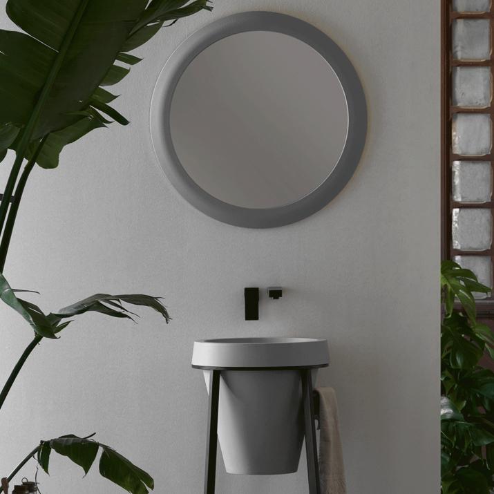 Miroir Rond - Litos Gris Humo