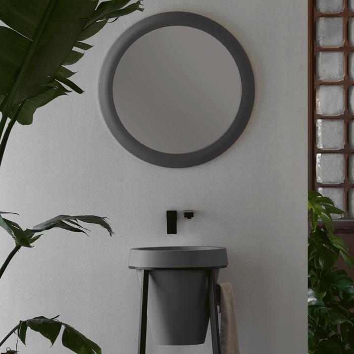 Miroir Rond - Litos Gris Concret